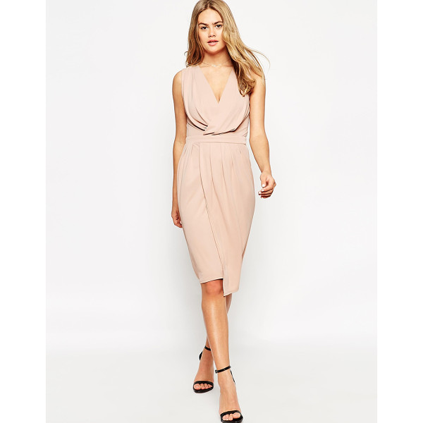ASOS Blouson wrap jersey dress - Dress by ASOS Collection, Smooth, jersey-style fabric,...
