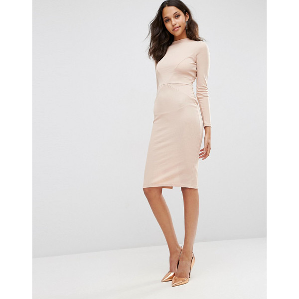 ASOS Bodycon Dress with Sexy Seam Detail in Rib - Body-Conscious dress by ASOS Collection, Ribbed stretch