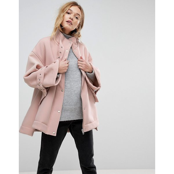 ASOS Bonded Jacket with Fleece Lining and Metalwear - Jacket by ASOS Collection, Borg lining, For feeling smugly...