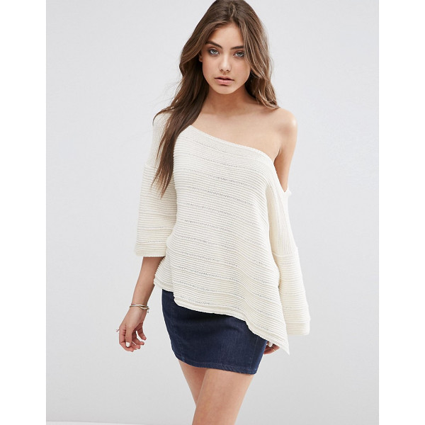 ASOS Boxy Sweater With Off Shoulder Neck - Sweater by ASOS Collection, Chunky knit, Off-shoulder...