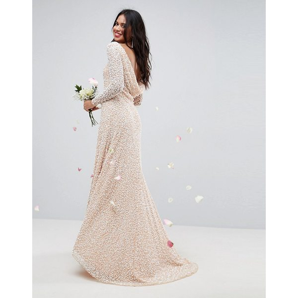 ASOS BRIDAL All Over Embellished Long Sleeve Maxi Dress - Dress by ASOS Collection, Heavyweight embellished dress,...