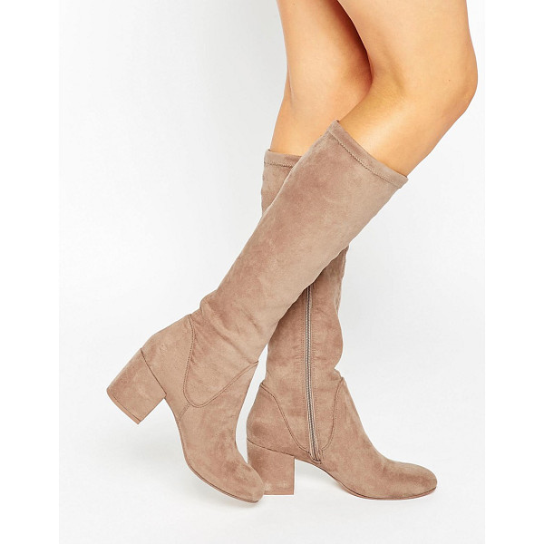 ASOS CAMERON Knee High Boots - Boots by ASOS Collection, Faux-suede upper, Side zip...