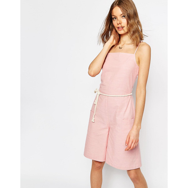 ASOS Cami Romper with Rope Belt - Romper by ASOS Collection, Lightweight woven cotton,...