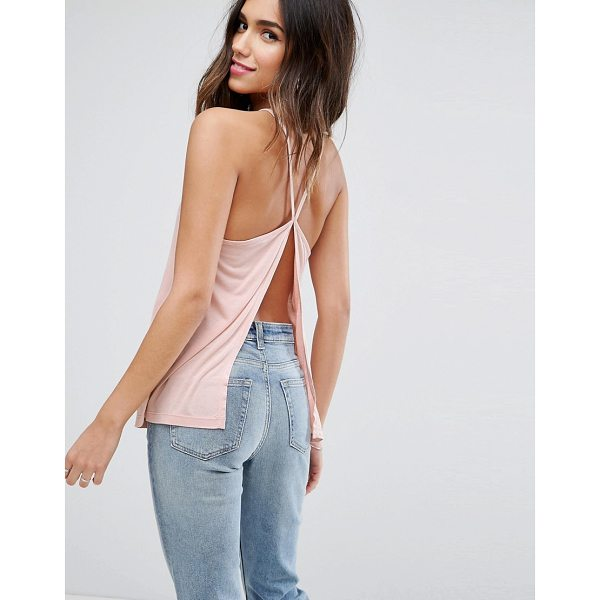 """ASOS Cami with Square Neck and Sexy Split Back - """"""""Top by ASOS Collection, Soft-touch jersey, High square..."""