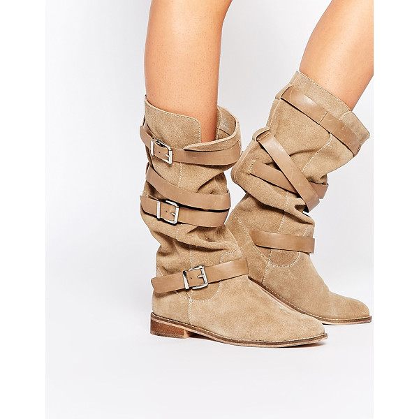 ASOS CANDID Suede Knee High Boots - Boots by ASOS Collection, Real suede upper, Round toe, Knee...