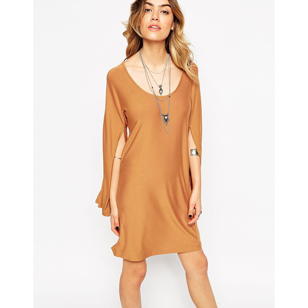 ASOS Caped sleeve dress - Dress by ASOS Collection Soft-touch stretch jersey Scoop...