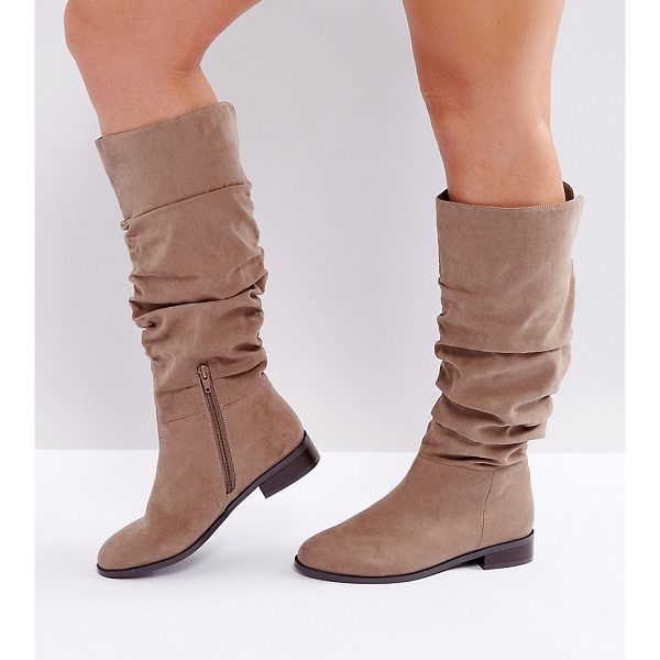 ASOS CAPITAL Wide Fit Slouch Knee Boots - Boots by ASOS Collection, Textile upper, Slouchy design,...