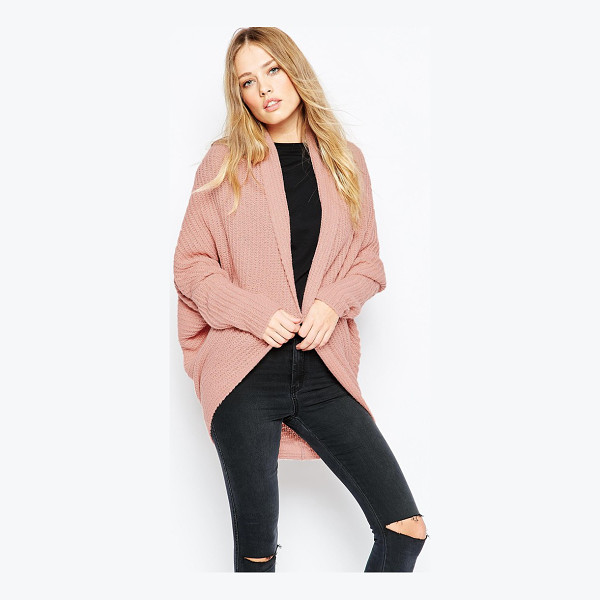 ASOS Chunky cardigan in cocoon shape - Cardigan by ASOS Collection Chunky knit Open front Dropped...