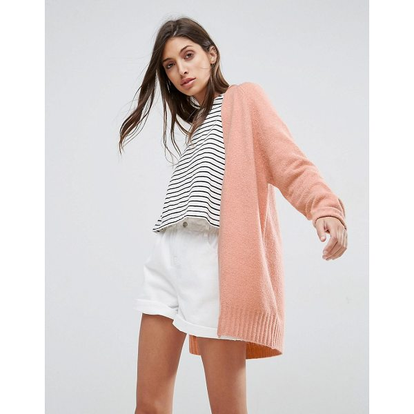 """ASOS Chunky Knit Cardigan In Wool Mix - """"""""Cardigan by ASOS Collection, Chunky wool-mix knit, Open..."""