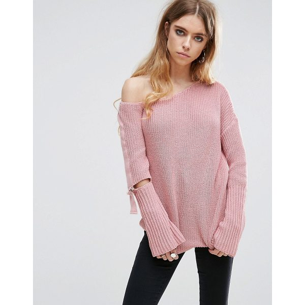 "ASOS Chunky Sweater With Off Shoulder And D Ring - """"Sweater by ASOS Collection, Chunky knit, Off-shoulder..."