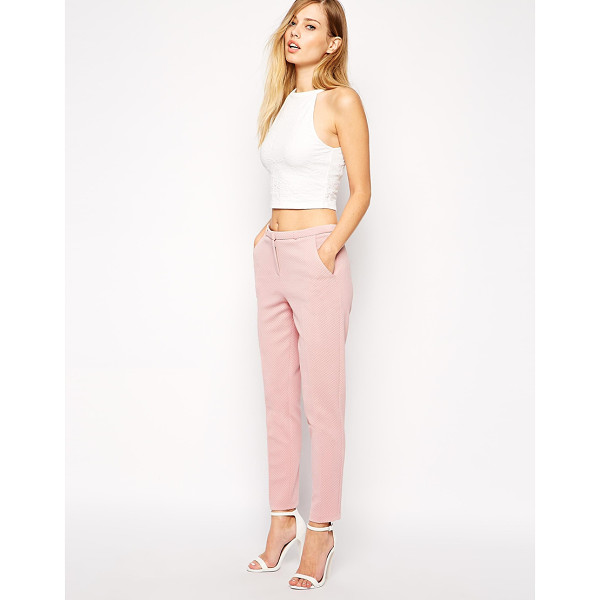 ASOS Cigarette pant in dot texture - Pants by ASOS Collection Mid-weight, textured fabric...