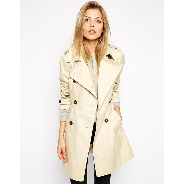 ASOS Classic Trench Coat - Trench by ASOS Collection, Mid-weight woven fabric, Fully...