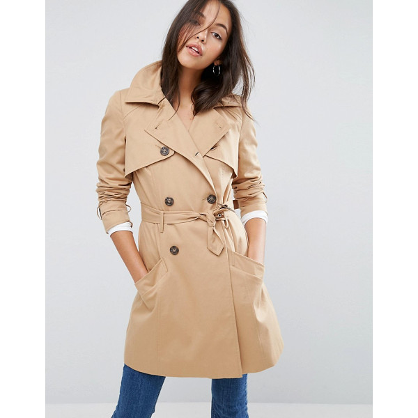 ASOS Classic Trench Coat - Coat by ASOS Collection, Heavyweight textured woven fabric,...