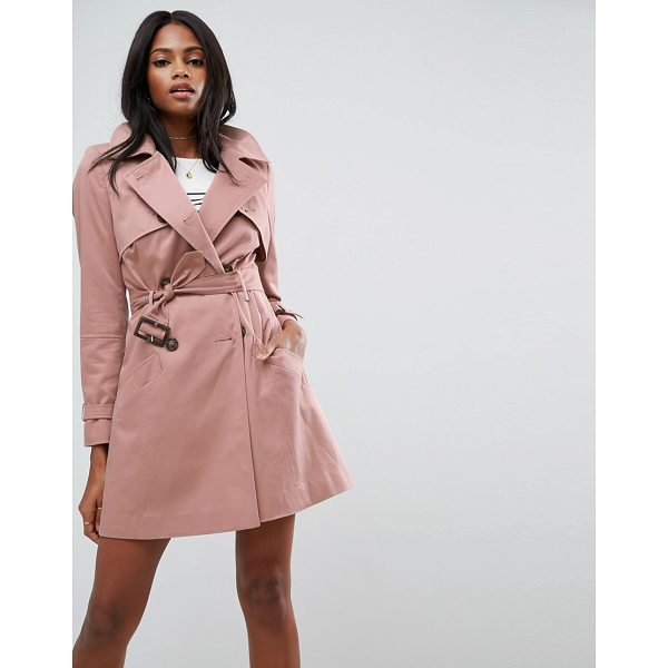 "ASOS Classic Trench Coat - """"Coat by ASOS Collection, Woven fabric, Point collar,..."