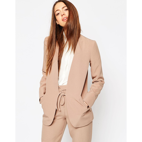 ASOS Clean Luxe Suit Blazer with Tie - Blazer by ASOS Collection, Lined woven fabric, Smooth...