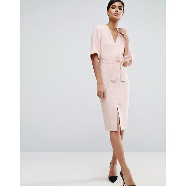 ASOS Clean Obi Wrap Dress with V Front - Dress by ASOS Collection, Smooth woven fabric, V-neck,...