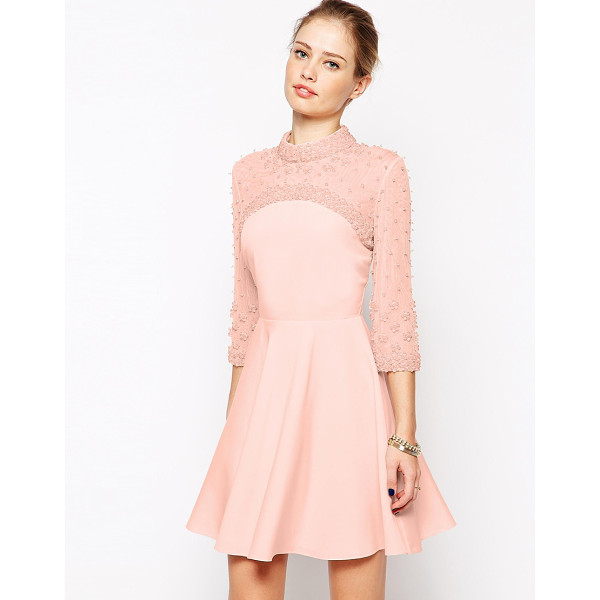 ASOS Cluster embellished skater dress - Dress by ASOS Collection Lined woven fabric Heavily...