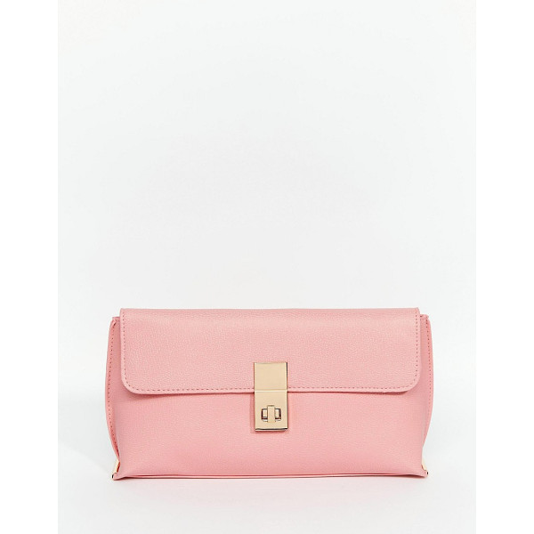 ASOS Clutch Bag With Clasp - Clutch bag by ASOS Collection, Matte faux leather, Front...