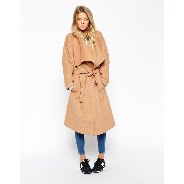 ASOS Coat with waterfall front - Coat by ASOS Collection Woven, wool-rich fabric Fully lined...