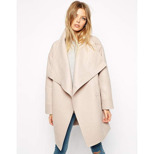 ASOS Coat with wrap front & funnel neck - Coat by ASOS Collection Heavy-weight, soft-touch fabric...