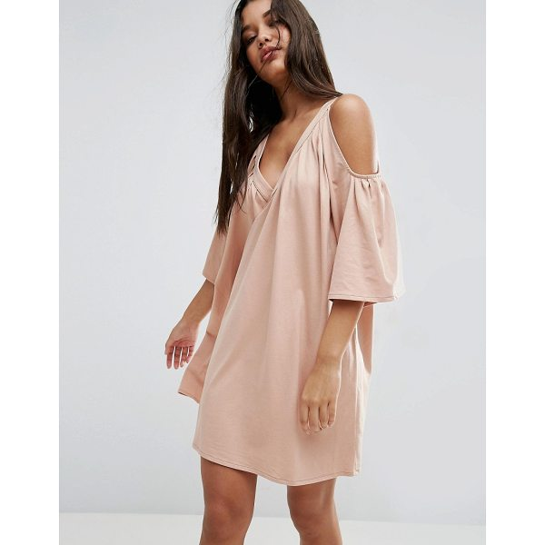 "ASOS Cold Shoulder Deep V Cotton Sundress - """"Dress by ASOS Collection, Soft-touch cotton jersey,..."