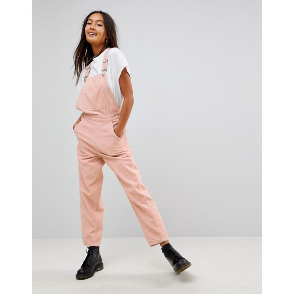 ASOS Cord Overall in Pale Pink - Overalls by ASOS Collection, Classic pinafore design,...