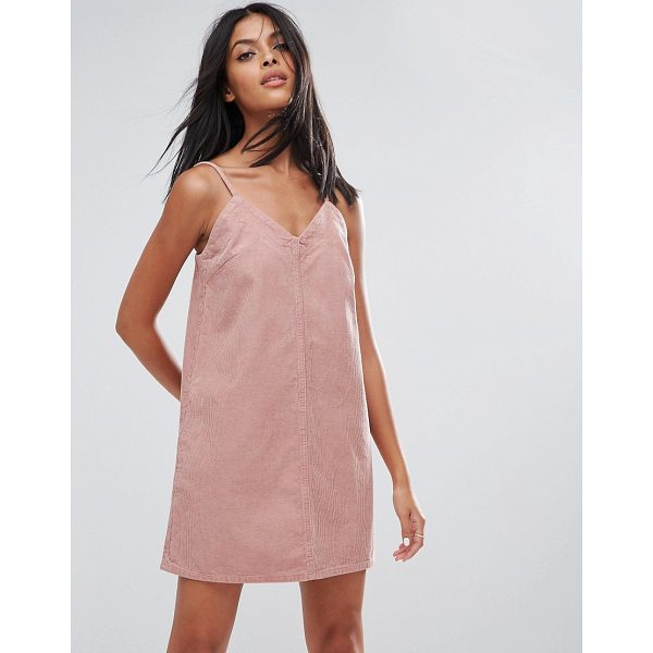 "ASOS Cord Slip Dress in Pale Pink - """"Dress by ASOS Collection, Soft-touch corduroy, V-neck,..."