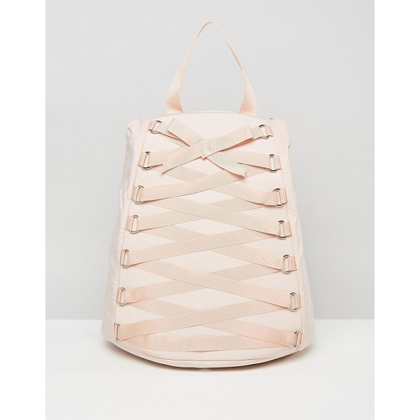 ASOS Corset Detail Backpack - Backpack by ASOS Collection, Durable canvas outer,