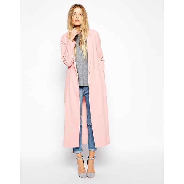 ASOS Crepe duster jacket in maxi length - Jacket by ASOS Collection Lightweight crepe Notch lapels...