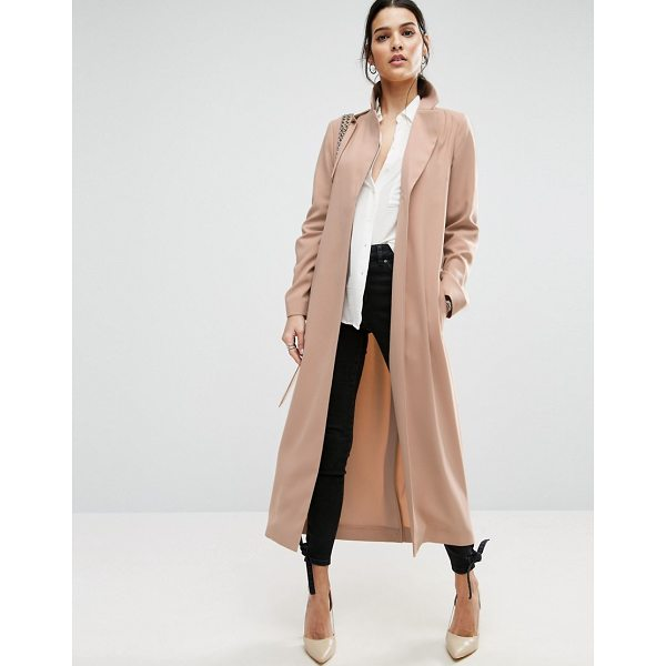 """ASOS Crepe Duster Trench - """"""""Trench by ASOS Collection, Smooth woven fabric, Notch..."""