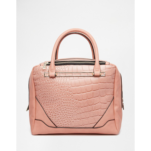 ASOS Croc tote bag - Cart by ASOS Collection Faux-leather Croc-style panels Twin...