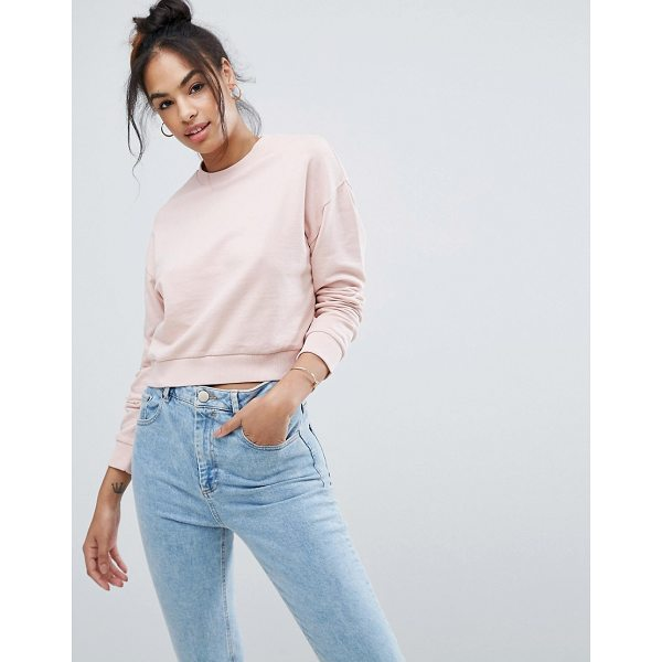 ASOS Cropped Sweatshirt - Sweatshirt by ASOS Collection, Soft-touch sweat,  Crew neck