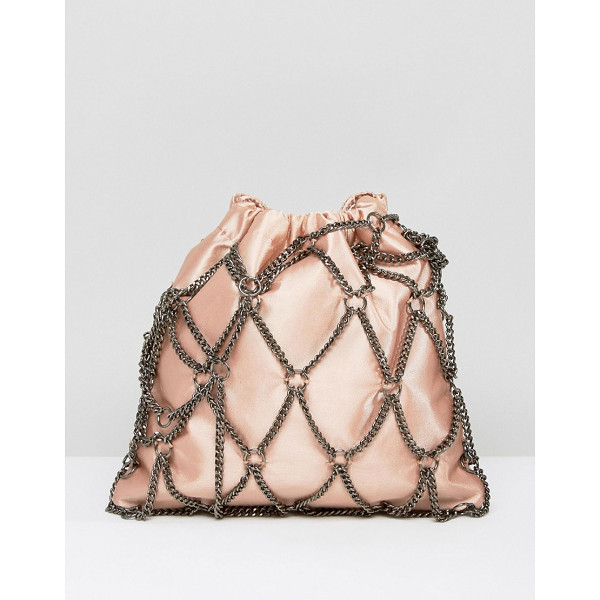 "ASOS Chain Pouch Clutch Bag - """"Clutch bag by ASOS Collection, Chain outer, Smooth..."