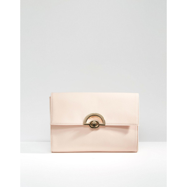 ASOS Curved Lock Clutch Bag - Clutch bag by ASOS Collection, Faux leather outer,...