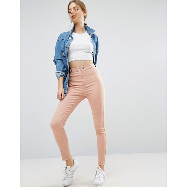 "ASOS Cut Out Side Skinny Pants - """"Pants by ASOS Collection, Firm-stretch denim, High-rise..."