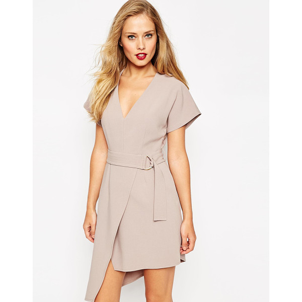 ASOS D-Ring Dress with Deep V and Wrap Detail - Dress by ASOS Collection, Woven fabric, V-plunge neckline,...