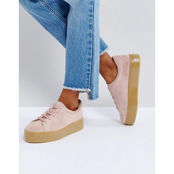 ASOS DAY LIGHT Suede Lace Up Sneakers - Sneakers by ASOS Collection, Suede upper, Lace-up...