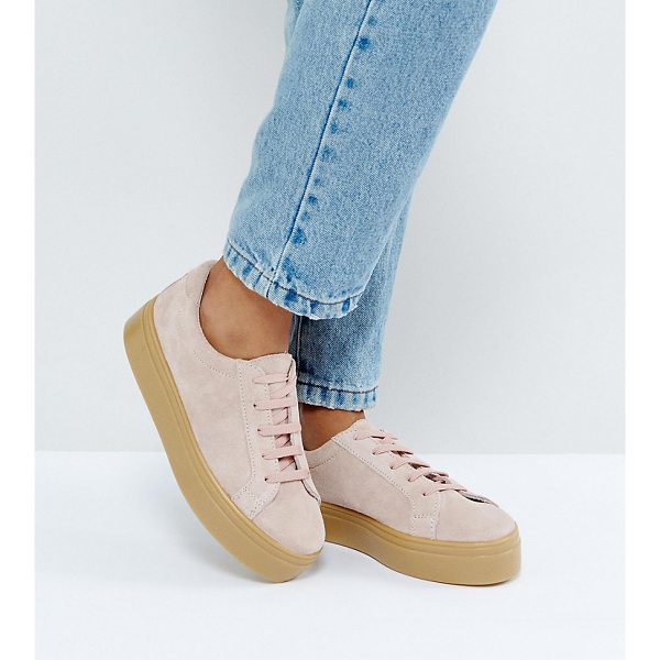 ASOS DAY LIGHT Wide Fit Suede Flatform Lace Up Sneakers - Sneakers by ASOS Collection, Suede upper, Lace-up...