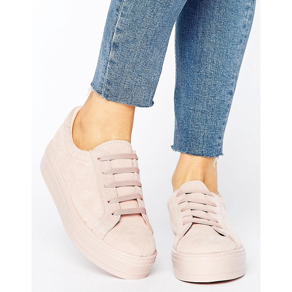 ASOS DAY Suede Flatform Sneakers - Sneakers by ASOS Collection, Textile upper, Lace-up design,...
