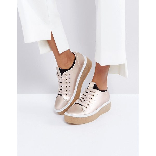 ASOS DEAL BREAKER Sock Sneakers - Sneakers by ASOS Collection, Faux-leather upper, Metallic...