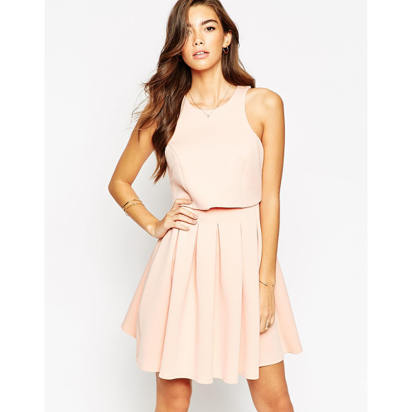 ASOS Debutante mini with crop top dress - Dress by ASOS Collection Mid-weight, scuba-style fabric...