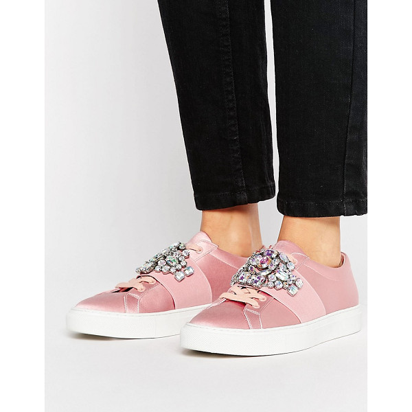 ASOS DECODE Embellished Sneakers - Sneakers by ASOS Collection, Satin upper, Lace-up design,...