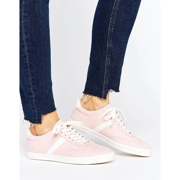 ASOS DELPHINE Stripe Lace Up Sneakers - Sneakers by ASOS Collection, Textile upper, Lace-up...