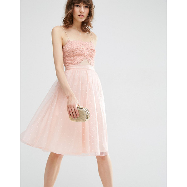 "ASOS Dobby Mesh Midi Lace Skater Dress - """"Skater dress by ASOS Collection, Knitted fabric, Square..."