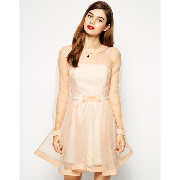 ASOS Dolly bow prom dress - Party dress by ASOS Collection Super silky feel, sheer...