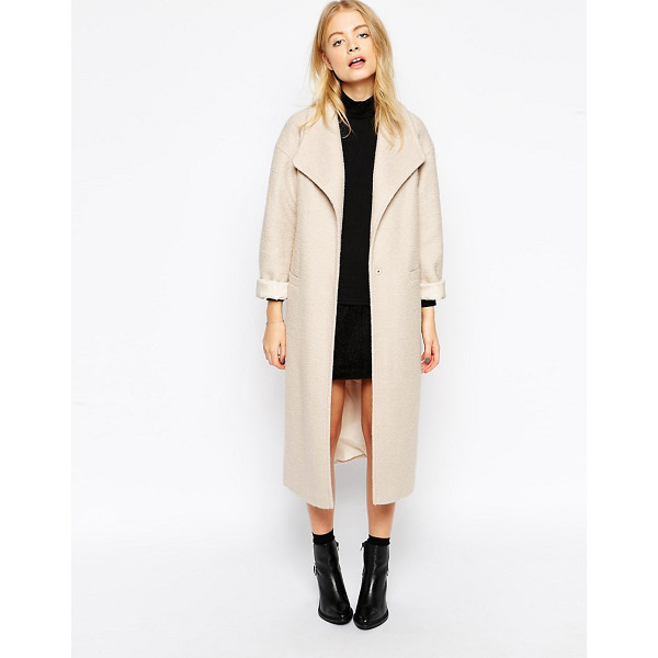 ASOS Duster coat in textured wool - Coat by ASOS Collection Mid-weight fluffy sweater Fully...