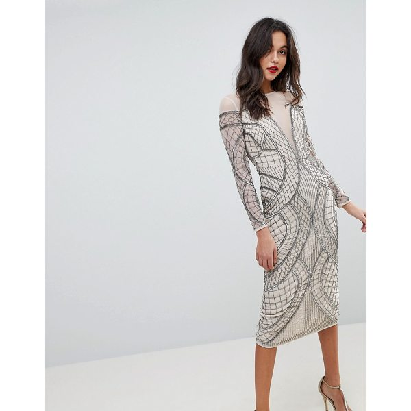ASOS EDITION ASOS EDITION Embellished Ergonomic Bodycon Midi Dress - Dress by ASOS EDITION, For that thing you RSVPd to,...