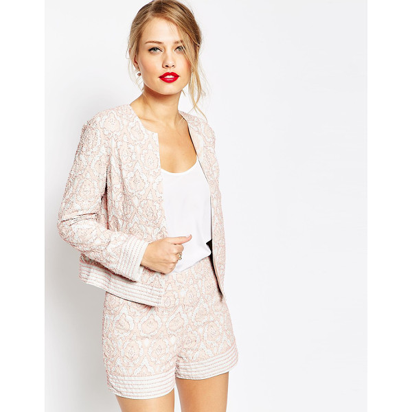 ASOS Embellished blazer tile print co-ord - Blazer by ASOS Collection Mid-weight, beaded fabric Fully...
