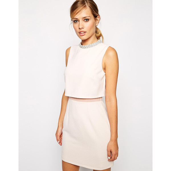ASOS Embellished collar stand dress - Evening dress by ASOS Collection, Lightly textured crepe,...