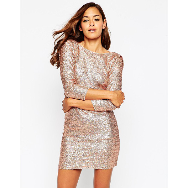 ASOS Embellished cowl body-conscious mini dress - Evening dress by ASOS Collection Sequin embellished fabric...